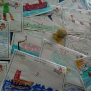 Exposición de dibujo infantil en la Rula de Ribadesella